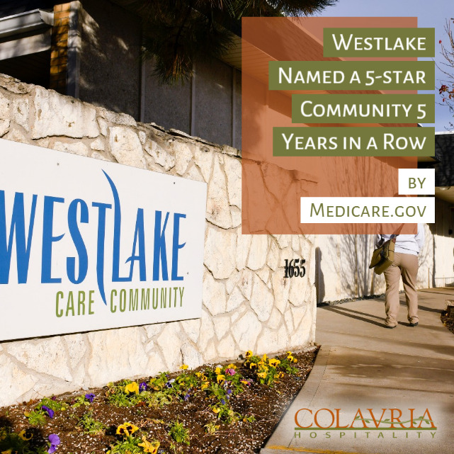 Westlake Named a 5-star Community 5 Years in a Row by Medicare.gov